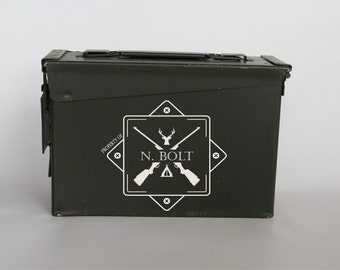 Personalized Ammo Box, Ammo can, Christmas man gift, Ammo Box