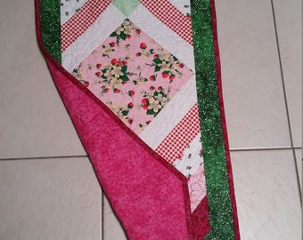 Table runner or topper. Quilted handmade