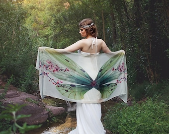 Dragonfly Sakura Butterfly scarf wings fairy bohemian monarch dancing foulard