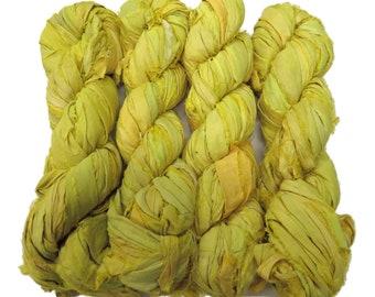 New! Sari Silk Ribbon, 100g , Stardust