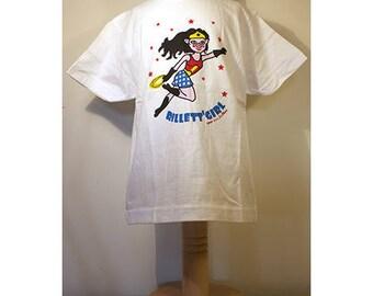 """T-shirt White Rillett'girl child """"From the Mans Caro"""""""