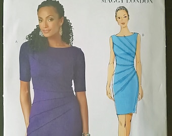Butterick B5559 Uncut Sewing Pattern - Women Dresses, Sleeveless and Short-Sleeved, Sizes 6-12