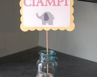 Elephant Sign, Elephant Baby Shower, Elephant Shower, Elephant Buffet Sign