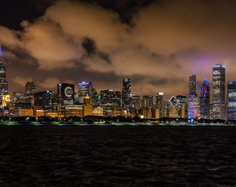 Chicago Cubs World Series Skyline