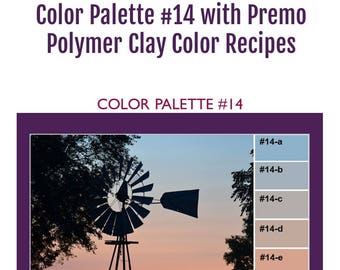 Premo Polymer Clay Color Mixing Recipes for Color Palette #14