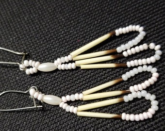 Vintage Porcupine Quill Earrings