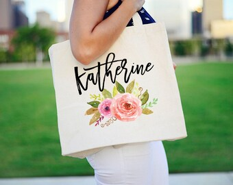 Monogram Tote, Bridal Party Tote Bag, Tote Bags for Bridal Party, Personalized Tote, Bridesmaid Tote Bags, Canvas Tote Bags, Bridesmaid Gift