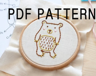 PDF Bear embroidery pattern