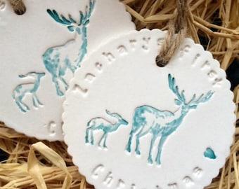 christmas gift tag first christmas ceramic