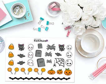 KAWAII HALLOWEEN Paper Planner Stickers!