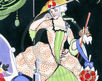 Perfume, Hat, Beauty, Lady, Diva, Woman, Glamour - Art Deco Print, 1920s