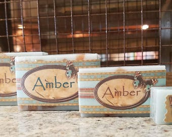 Warm, Earthy, Citrus Handmade Goat Milk Bar Soap // AMBER