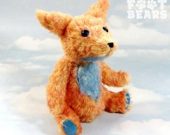 Sale - Artist MOHAIR Teddy Bear FOX 'Skyler' OOAK hand crafted - My Bear Foot Bears