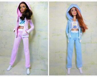Barbie clothes - Barbie hooded jacket/ Barbie top/ Barbie pants/ Barbie casual/ Barbie hoodie/ Barbie sportswear (M2M, Model, Fashionista)