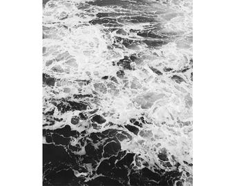 Black and White Wave Photography, Wave Print, Black and White Wall Decor, Ocean Print, Black and White Prints