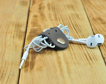 Cable management, Cable organizer, Cable cord, Earbud holder, Cable wrap, Cableorganizer, Cord keeper, How to wrap earbuds Gray Color