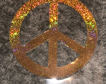 Holographic peace decal