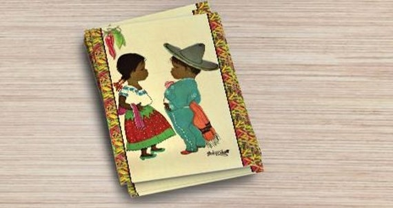 Handmade Postcards Mexico Theme