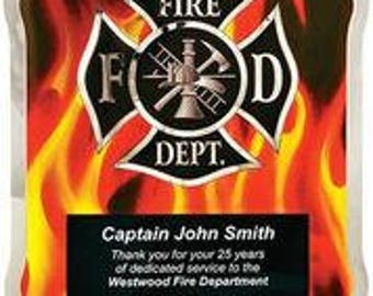 Firefighter award plaque 10 1/2 x 13
