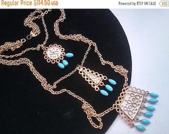 ON SALE Designer FLORENZA Statement Necklace  ~ Vintage Signed Jewelry 1950's 1960's Collectible Fringe Tassel Accessories Mad Men