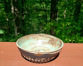 Handmade pottery bowl, agateware, marbled clay,  small bowl, prep bowl, ring trinket bowl, ice cream bowl, hold 2 cup, FREE SHIPPING