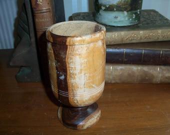 Vintage Handmade Wooden Cup Drinking Mug Rustic Primitive Nature Tree