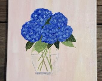 Hydrangeas. 11x14 original acrylic painting