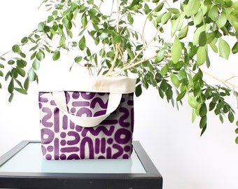 Bucket Totes - Doodle Plum (more sizes)