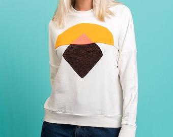 Sunrise totem handmade sweatshirt