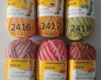 NEW!!!Regia Cotton Tutti Frutti 4ply  3.5 oz. / 100 g