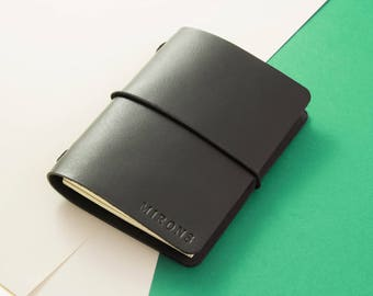 Leather notebook cover A6