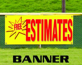 Free Estimates Auto Information Specifications Advertising Vinyl Banner Sign