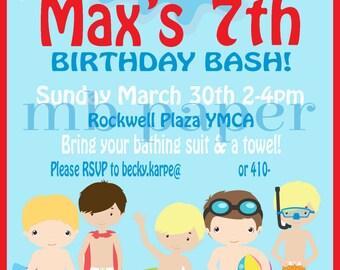 Birthday Splash Party Invitation
