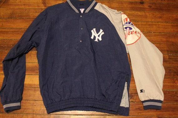 Detroit Tigers starter jacket vtg MLB Baseball vintage full button winter coat Large Ykpqyw1