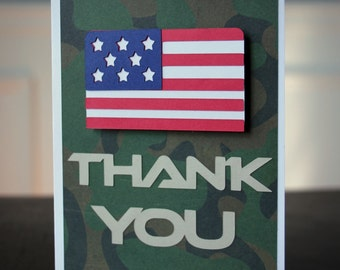 Army Party Military Thank You Card Set
