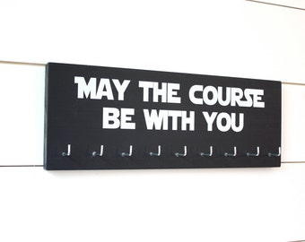 Star Wars Running Medal Holder - May the course be with you - Medium