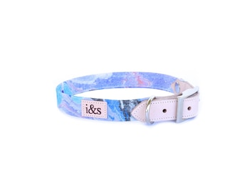 Dog Collar - Limited Edition Rose Gold Fibers - Blue