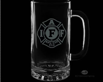 16 Ounce International Association of Firefighters Personalized Beer Mug