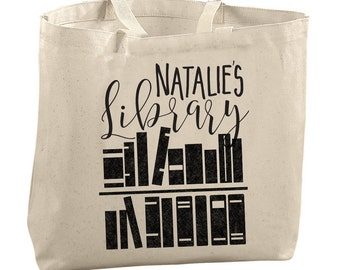 Personalized Bags for Women Teacher Gifts Teacher Appreciation Gifts for Librarians Personalized Tote Bag Book Lover Personalized Book Bag