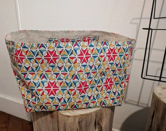 Cotton/linen storage basket/basket - size XL