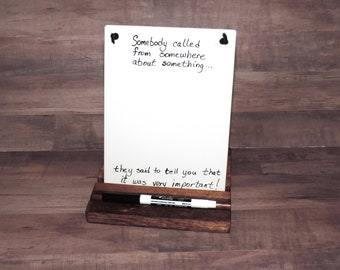 Somebody Called About Something ~ Ceramic Tile Dry Erase Hanging Message Memo Board