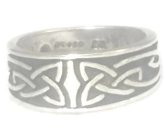 Celtic Knot Ring Size 4 Plus Celtic Knot Band Size 4 Celtic Ring Size 4 Celtic Band Size 4 Irish Band Size 4 Pinky Ring Size 4
