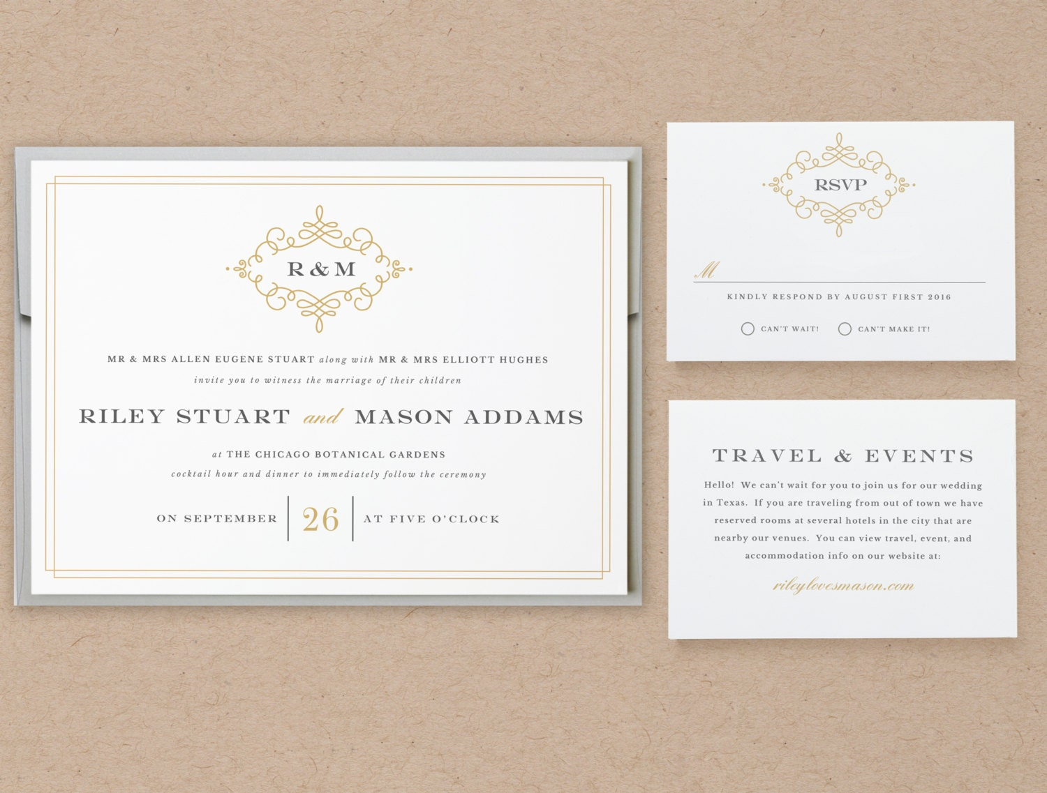 Printable Wedding Invitation Template | INSTANT DOWNLOAD | Ornate ...