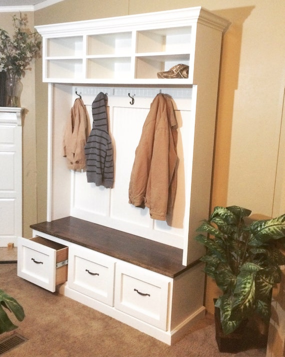 Perfect Free Coat And Boot Rack Image: Entryway Bench/shoe Storage/organization/mudroom/hall