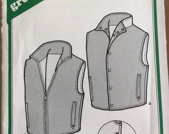 Green Pepper F783 men's santiam reversible vest uncut 2 styles