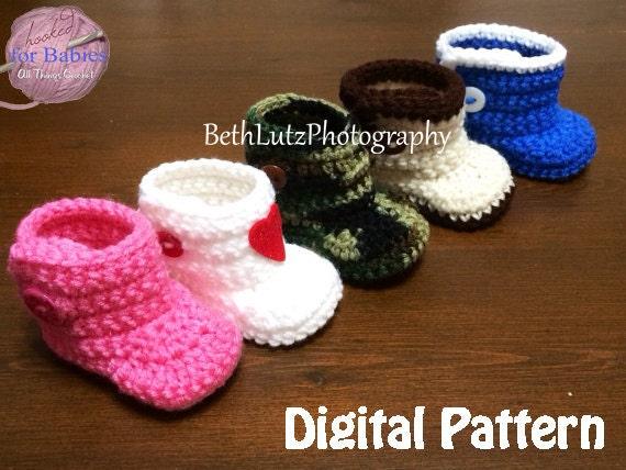 Newborn Crochet Pattern Baby Boots Newborn Pattern Booties