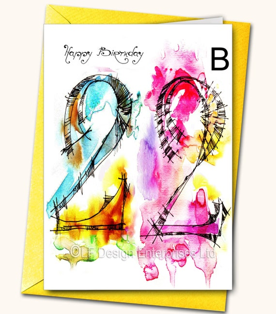 22nd Birthday Greeting Card Personalised Cards Any Name On