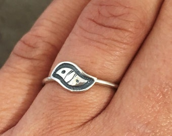 stacking rings - Bird ring -made to order - sterling silver rings - tribal rings - wave ring - unique ring - boho ring - bohemian ring