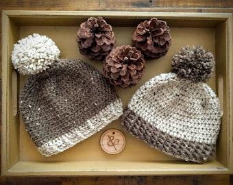 Tweed baby hat; Handmade baby hat; Crochet baby hat; Infant hat; Newborn hat; Baby hat; Crochet baby hat; Handmade newborn hat