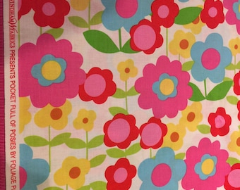 Pocket Full of Posies Fabric by Foliage Pattern No 33366 for Windam Fabrics Sold the yard